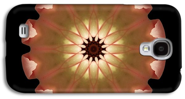 David J Bookbinder Galaxy S4 Cases - Pale Pink Tulip Flower Mandala Galaxy S4 Case by David J Bookbinder