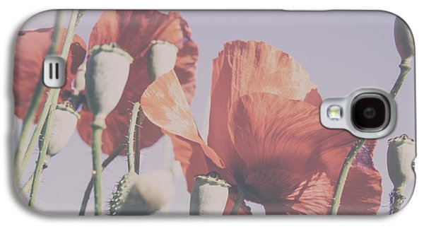A Sunny Morning Galaxy S4 Cases - Pale Poppy Day Galaxy S4 Case by Nomad Art And  Design