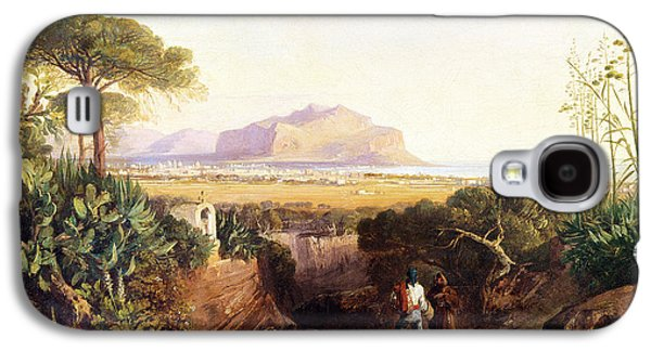 Beach Landscape Galaxy S4 Cases - Palermo Sicily Galaxy S4 Case by Edward Lear