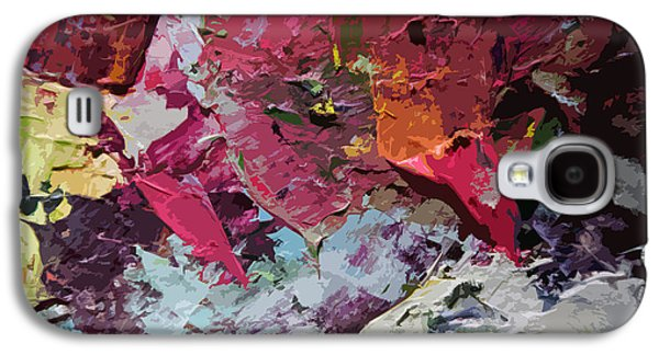 Abstractions Paintings Galaxy S4 Cases - Palette Abstraction #1 Galaxy S4 Case by John Lautermilch
