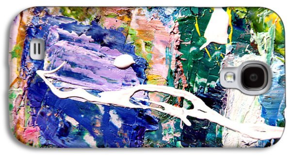 Abstractions Paintings Galaxy S4 Cases - Palette Abstraction #10 Galaxy S4 Case by John Lautermilch