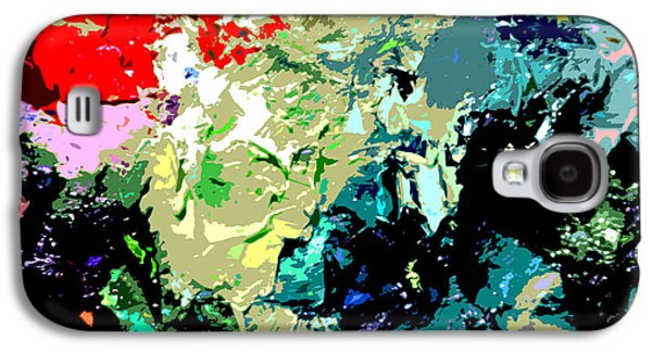 Abstractions Paintings Galaxy S4 Cases - Palette Abstraction #13 Galaxy S4 Case by John Lautermilch