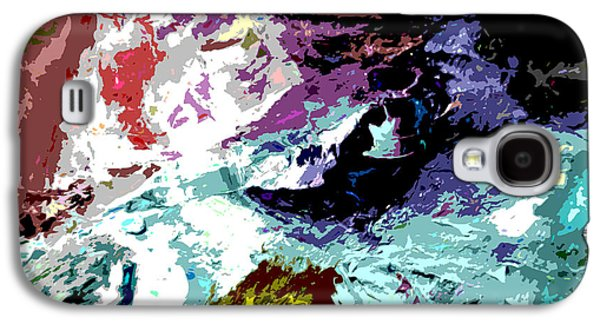 Abstractions Paintings Galaxy S4 Cases - Palette Abstraction #14 Galaxy S4 Case by John Lautermilch