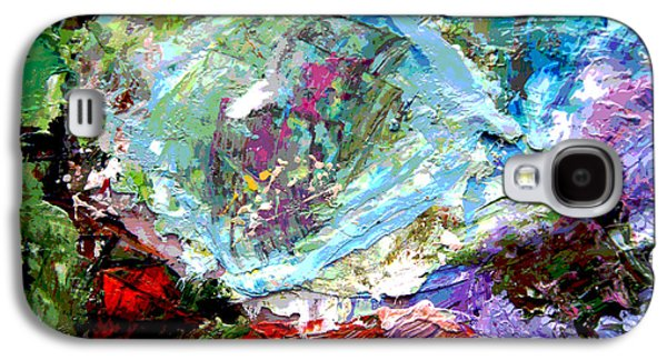 Abstractions Paintings Galaxy S4 Cases - Palette Abstraction #16 Galaxy S4 Case by John Lautermilch