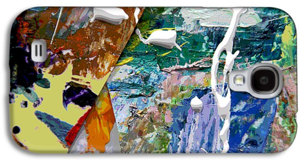 Abstractions Paintings Galaxy S4 Cases - Palette Abstraction #8 Galaxy S4 Case by John Lautermilch