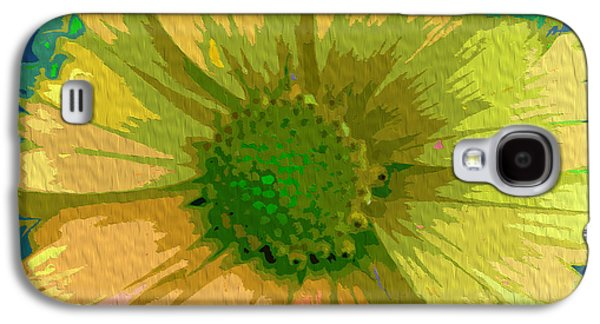 Abstracted Coneflowers Digital Galaxy S4 Cases - Palette Knife Coneflower Galaxy S4 Case by Nina Silver