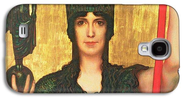 Goddess Mythology Paintings Galaxy S4 Cases - Pallas Athena Galaxy S4 Case by Franz Von Stuck