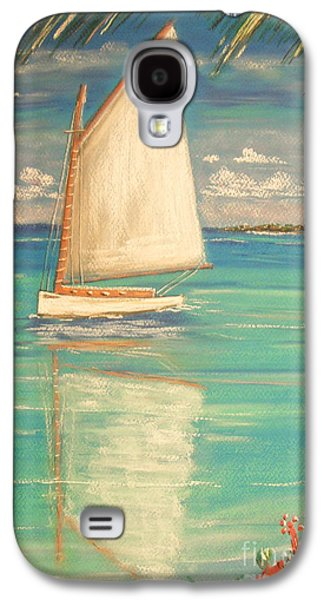 Beach Landscape Pastels Galaxy S4 Cases - Palm Bay Galaxy S4 Case by The Beach  Dreamer