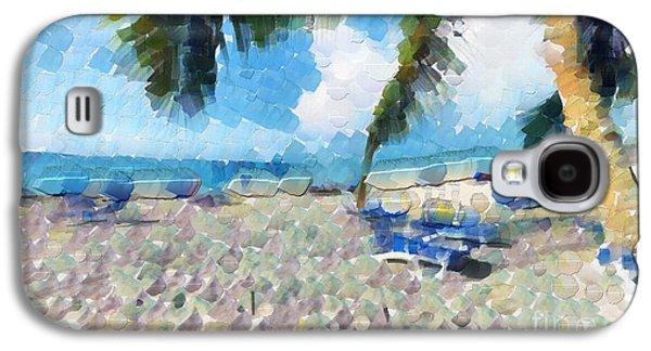 Beach Landscape Galaxy S4 Cases - Palm on sand Galaxy S4 Case by Magomed Magomedagaev