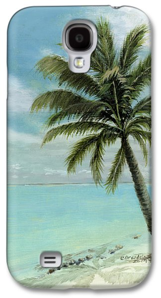 Tropical Oceans Galaxy S4 Cases - Palm Tree Study Galaxy S4 Case by Cecilia  Brendel