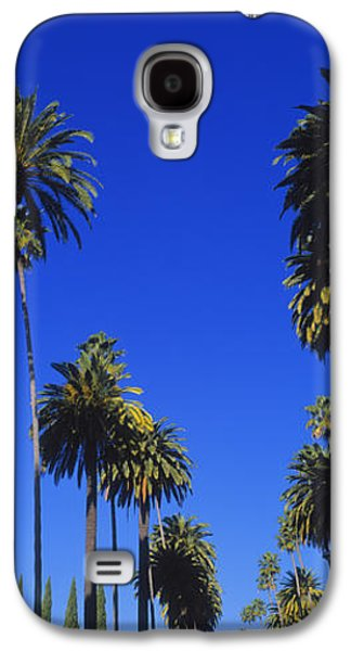 Palm Trees Along A Road, Beverly Hills Galaxy S4 Case by Panoramic Images