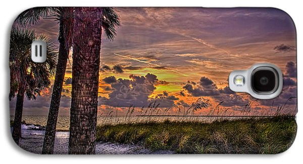 Palms Down To The Beach Galaxy S4 Case by Marvin Spates