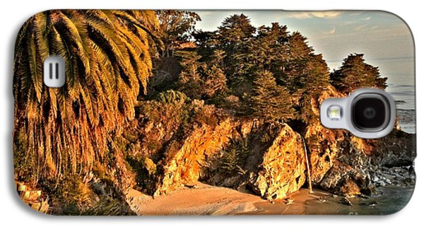 Big Sur Ca Galaxy S4 Cases - Palms Over McWay Galaxy S4 Case by Adam Jewell