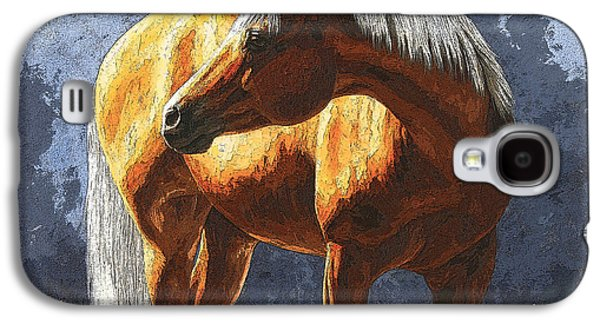 Quarter Horses Galaxy S4 Cases - Palomino Horse - Variation Galaxy S4 Case by Crista Forest
