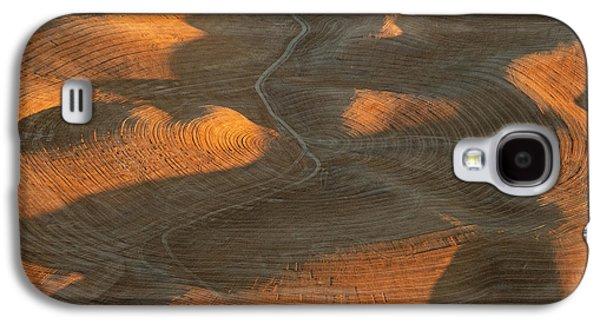 Contour Farming Galaxy S4 Cases - Palouse Contours IV Galaxy S4 Case by Latah Trail Foundation
