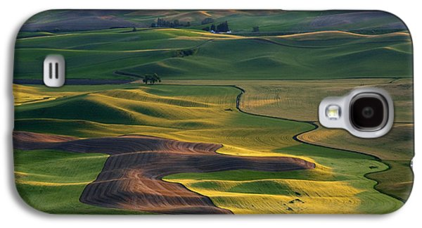 Rural Galaxy S4 Cases - Palouse Shadows Galaxy S4 Case by Mike  Dawson