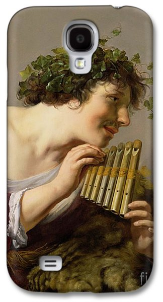 Vine Leaves Galaxy S4 Cases - Pan Playing his Pipes Galaxy S4 Case by Paulus Moreelse