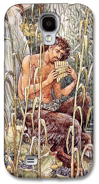 Male Paintings Galaxy S4 Cases - Pan Playing His Pipes Galaxy S4 Case by Walter Crane