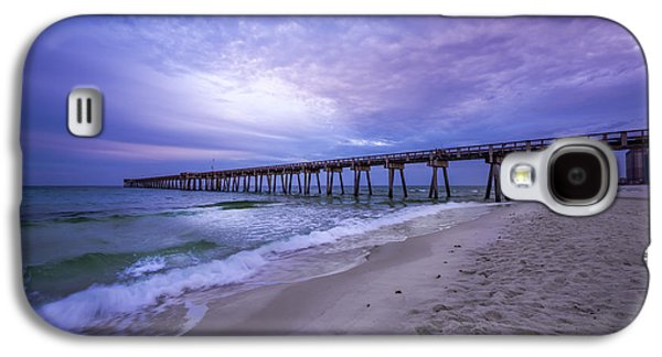 Panama City Beach Galaxy S4 Cases - Panama City Beach Pier in the Morning Galaxy S4 Case by David Morefield