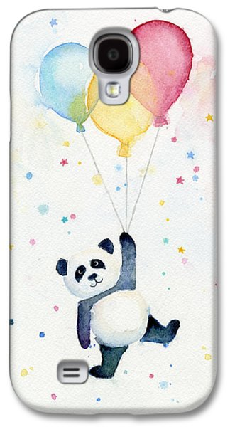 Panda Floating With Balloons Galaxy S4 Case by Olga Shvartsur