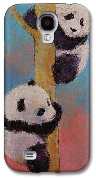 Climbing Galaxy S4 Cases - Panda Fun Galaxy S4 Case by Michael Creese