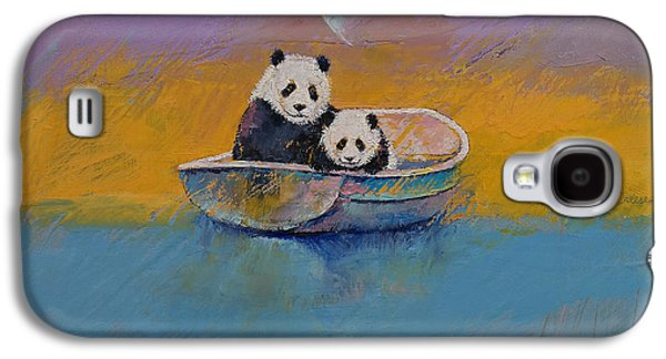 Rowboat Galaxy S4 Cases - Panda Lake Galaxy S4 Case by Michael Creese
