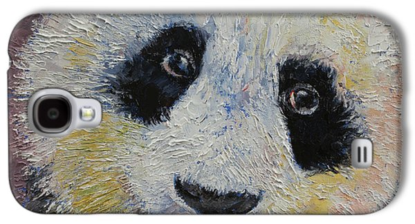 Michael Sweet Galaxy S4 Cases - Panda Smile Galaxy S4 Case by Michael Creese
