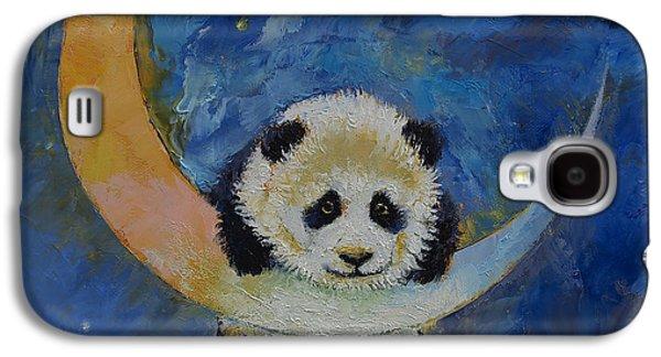 Luna Galaxy S4 Cases - Panda Stars Galaxy S4 Case by Michael Creese