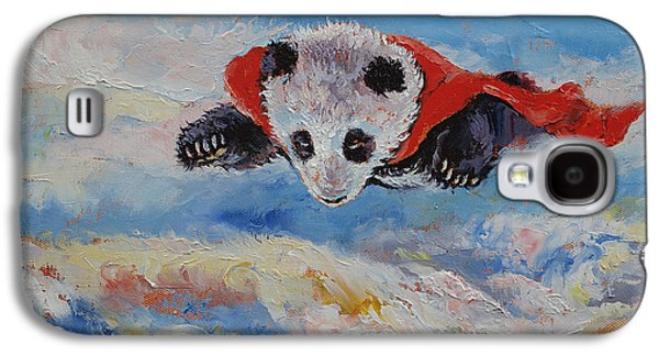 Party Birthday Party Galaxy S4 Cases - Panda Superhero Galaxy S4 Case by Michael Creese
