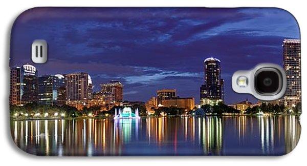 Studio Photographs Galaxy S4 Cases - Panorama of Downtown Orlando Galaxy S4 Case by Silvio Ligutti