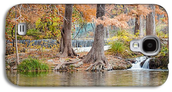 Tree Roots Galaxy S4 Cases - Panorama of Guadalupe River in Hunt Texas Hill Country Galaxy S4 Case by Silvio Ligutti
