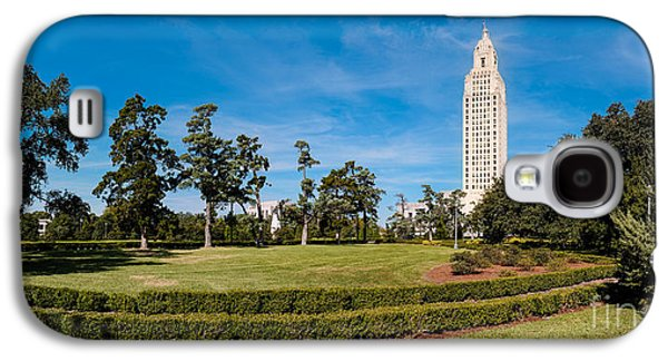 Louisiana State University Photographs Galaxy S4 Cases - Panorama of Louisiana State Capitol Building and Gardens - Baton Rouge Galaxy S4 Case by Silvio Ligutti