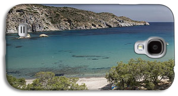 Panorama Of Mandrakia Fishing Village Milos Greece Galaxy S4 Case by David Smith