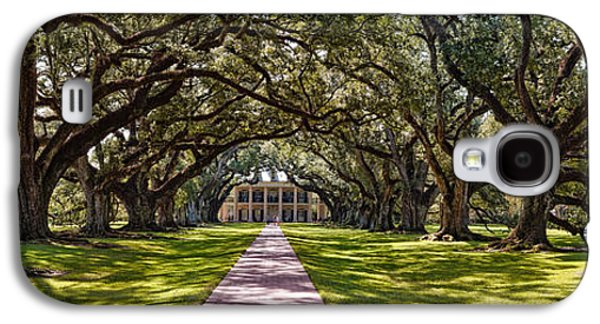 Slaves Galaxy S4 Cases - Panorama of Oak Alley Plantation - Vacherie Louisiana Galaxy S4 Case by Silvio Ligutti