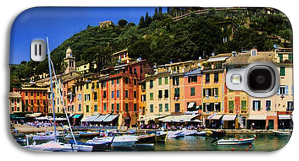 Interface Galaxy S4 Cases - Panorama of Portofino Harbour Italian Riviera Galaxy S4 Case by David Smith