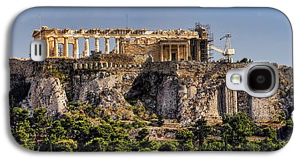 Civilization Galaxy S4 Cases - Panorama of the Acropolis in Athens Galaxy S4 Case by David Smith
