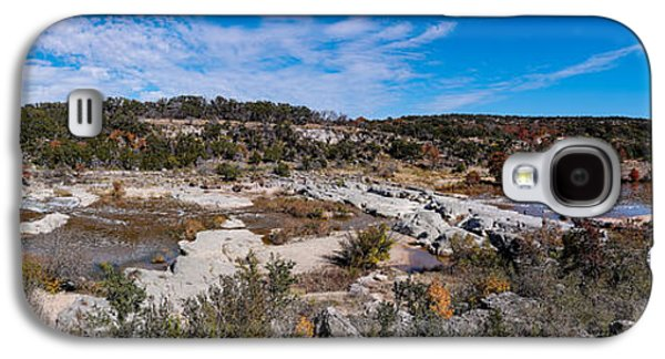 Waterscape Galaxy S4 Cases - Panorama of the Mighty Pedernales River in the Fall Season - Johnson City Texas Hill Country Galaxy S4 Case by Silvio Ligutti