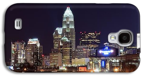 Charlotte Galaxy S4 Cases - Panoramic Charlotte Night Galaxy S4 Case by Frozen in Time Fine Art Photography