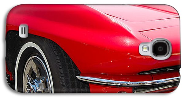 Landmarks Photographs Galaxy S4 Cases - panoramic red Corvette Galaxy S4 Case by Mark Spearman