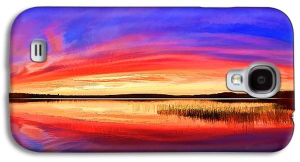Photo Manipulation Galaxy S4 Cases - Panoramic Sunset at Round Lake 1 Galaxy S4 Case by Bill Caldwell -        ABeautifulSky Photography