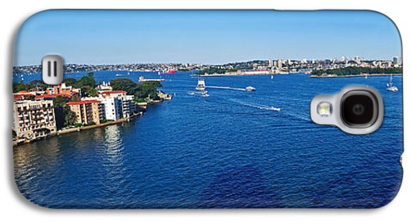Boats On Water Galaxy S4 Cases - Panoramic Sydney Harbour Galaxy S4 Case by Kaye Menner