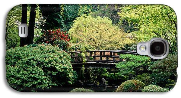 Garden Scene Galaxy S4 Cases - Panoramic View Of A Garden, Japanese Galaxy S4 Case by Panoramic Images