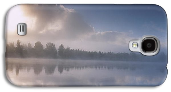 Reflections In River Galaxy S4 Cases - Panoramic View Of A River At Dawn Galaxy S4 Case by Panoramic Images