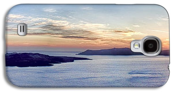 Interface Galaxy S4 Cases - Panorama Santorini Caldera at Sunset Galaxy S4 Case by David Smith