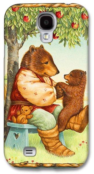 Papa Galaxy S4 Cases - Papa Bear Galaxy S4 Case by Lynn Bywaters