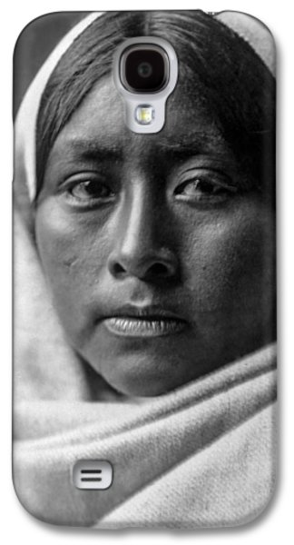 1907 Galaxy S4 Cases - Papago Indian woman circa 1907 Galaxy S4 Case by Aged Pixel