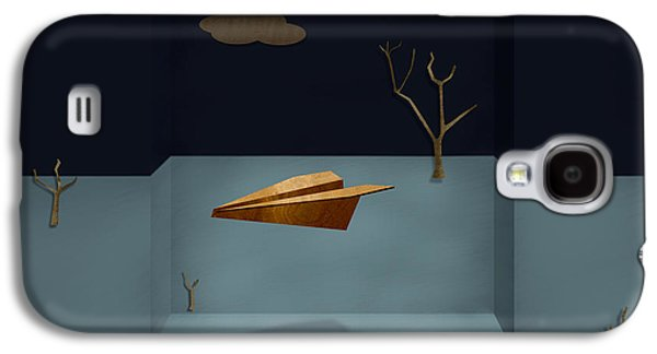 Glides Galaxy S4 Cases - Paper Airplanes of Wood 13 Galaxy S4 Case by Yo Pedro