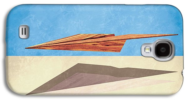 Glides Galaxy S4 Cases - Paper Airplanes of Wood 14 Galaxy S4 Case by Yo Pedro