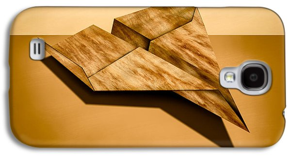Glides Galaxy S4 Cases - Paper Airplanes of Wood 5 Galaxy S4 Case by Yo Pedro