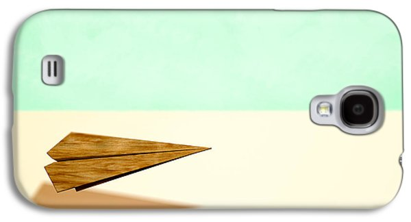 Glides Galaxy S4 Cases - Paper Airplanes of Wood 9 Galaxy S4 Case by Yo Pedro